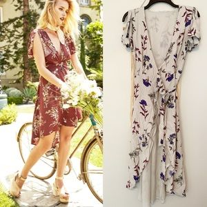 Astr the Label Floral Wrap Dress